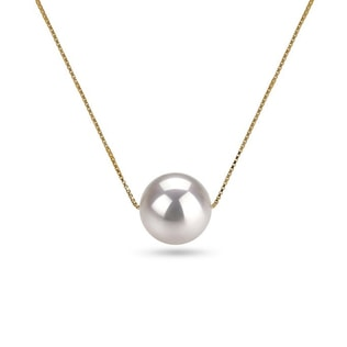 AKOYA PEARL 14KT GOLD NECKLACE - PEARL PENDANTS - PEARL JEWELLERY
