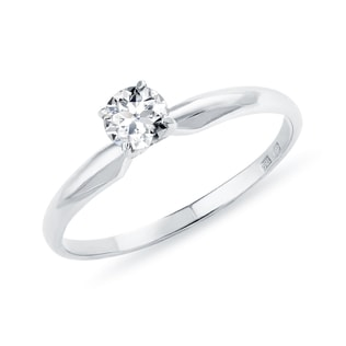 DIAMOND 0.15CT ENGAGEMENT RING IN 14KT GOLD - WHITE GOLD RINGS - RINGS