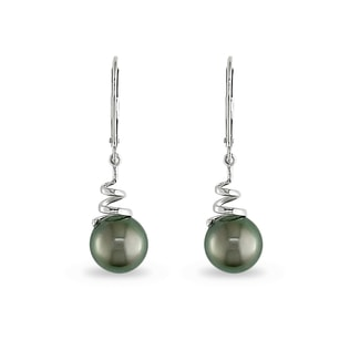 TAHITIAN PEARL EARRINGS IN 14KT GOLD - PEARL EARRINGS - PEARL JEWELRY