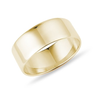 WEDDING RING IN YELLOW GOLD - RINGS FOR HIM - WEDDING RINGS