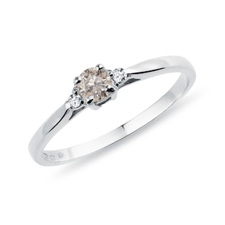 ENGAGEMENT RING WITH DIAMONDS IN GOLD - FANCY DIAMOND ENGAGEMENT RINGS - ENGAGEMENT RINGS