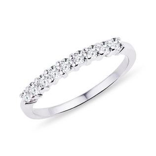 RING WITH DIAMONDS IN WHITE GOLD - RINGS FOR HER - WEDDING RINGS