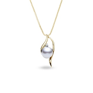 PEARL PENDANT IN 14KT GOLD - PEARL PENDANTS - PEARL JEWELRY