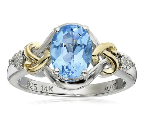 STERLING SILVER RING WITH TOPAZ - JEWELLERY SALE