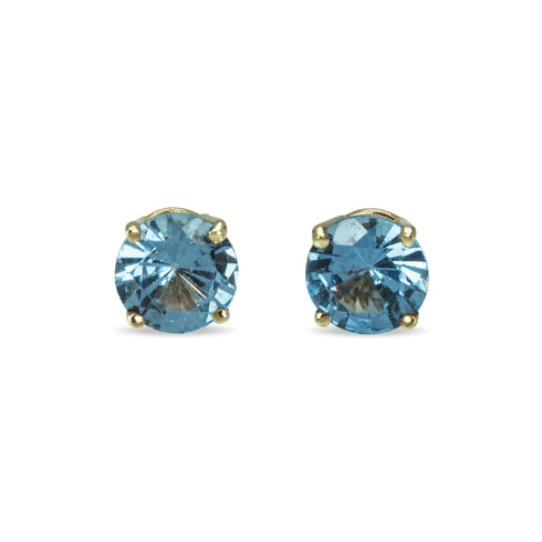 Blue topaz earrings in 14kt gold - Topaz Earrings