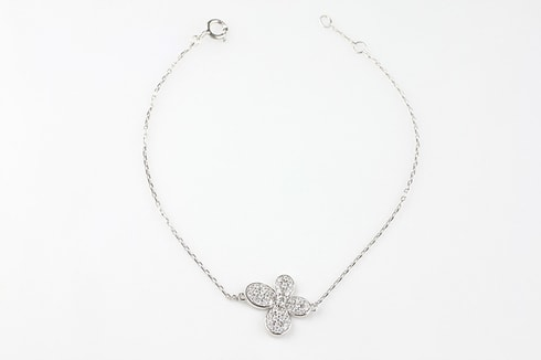 Sterling silver bracelet with flower - Jewellery Sale