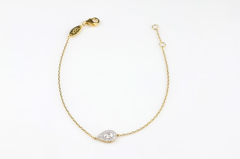 Silver bracelet with gold-plated drop - Jewellery Sale