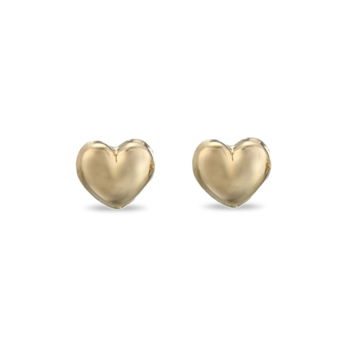 Baby Disney heart earrings in 14kt gold - Yellow Gold Earrings