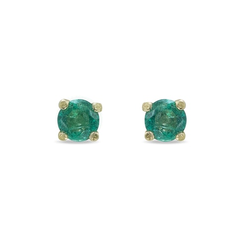 Emerald 14kt gold earrings - Emerald Earrings