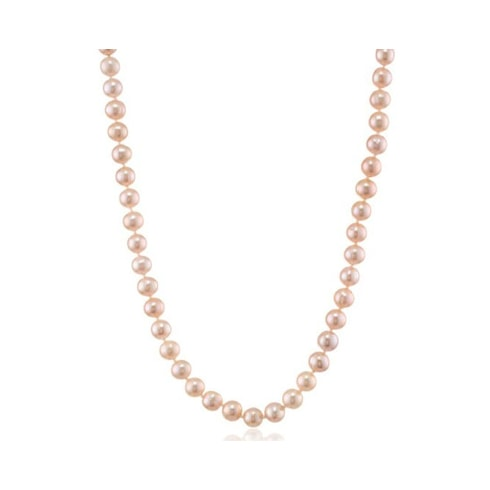 Pink pearl necklace - Pearl Necklaces