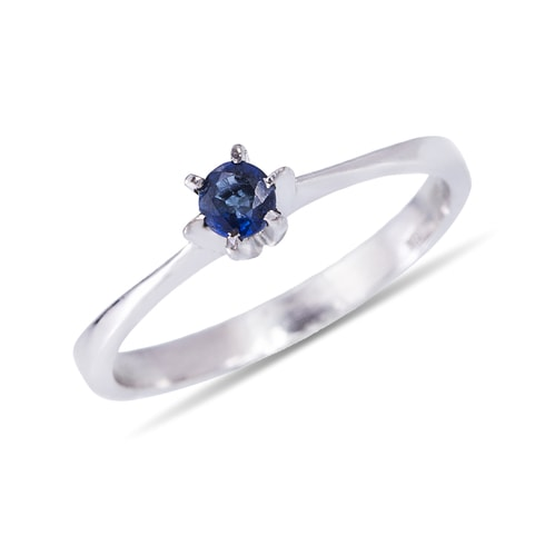 Blue sapphire silver ring - Sapphire Rings