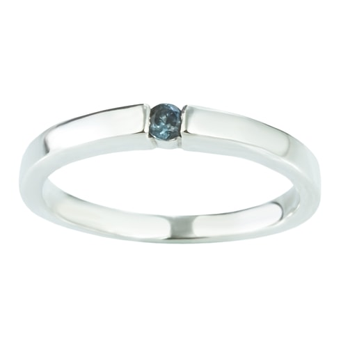 Sterling silver ring with sapphire - Jewellery Sale