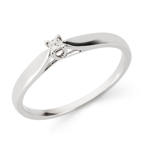 Sterling silver ring with diamond - Jewellery Sale