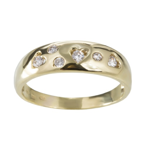 GOLD RING ADORNED WITH DIAMONDS - DIAMOND RINGS - RINGS