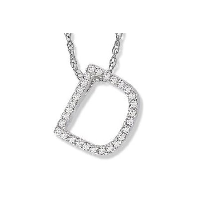 DIAMOND LETTER D - JEWELLERY SALE