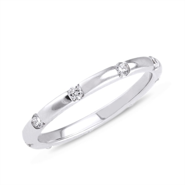 Diamond ring in 14kt white gold - White Gold Rings