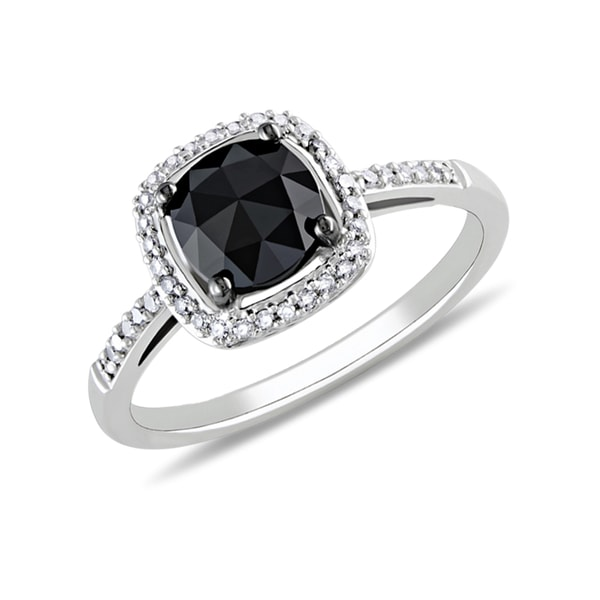 Diamond ring in white gold - Engagement rings with fancy diamonds