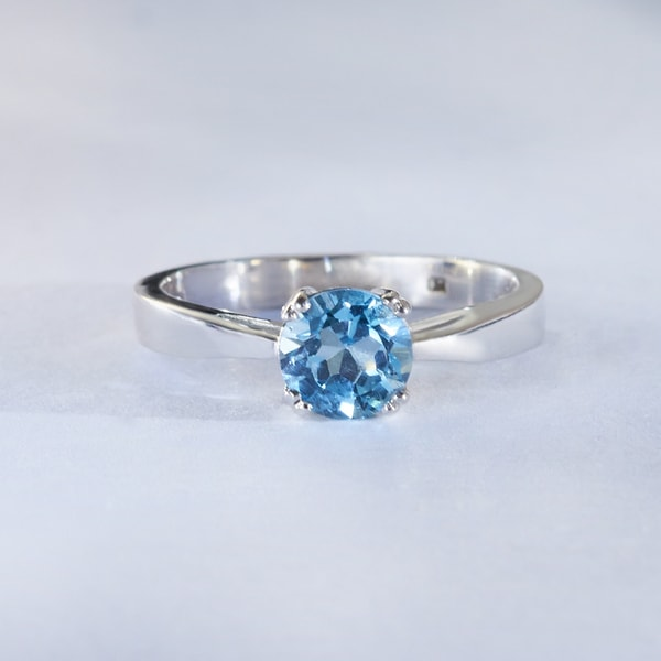 GOLD RING WITH TOPAZ - TOPAZ RINGS - RINGS