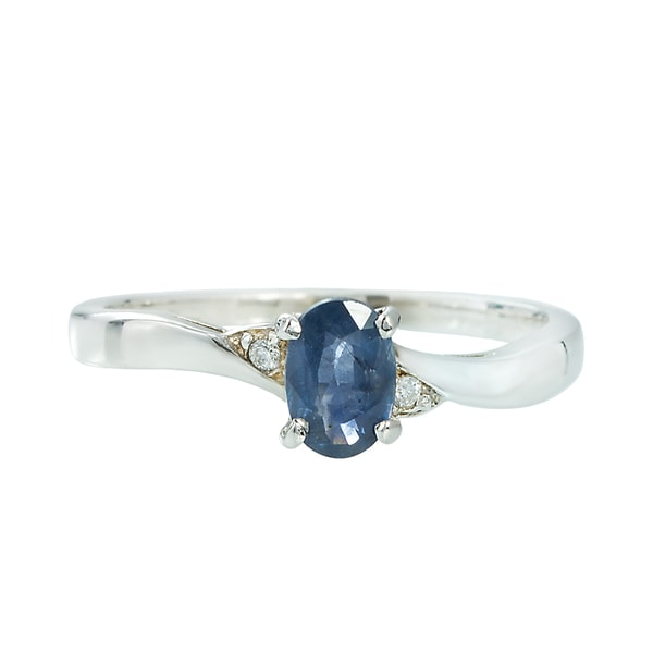 SAPPHIRE RING WITH DIAMONDS IN GOLD - SAPPHIRE RINGS - RINGS