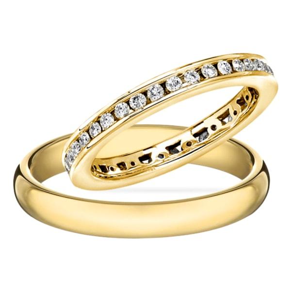 EHERING MIT DIAMANT AUS GOLD - TRAURINGE DIAMANTEN - TRAURINGE KLENOTA