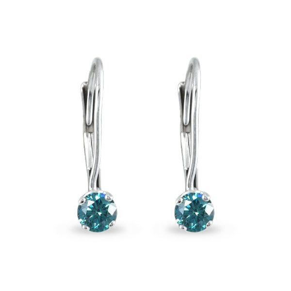 Diamond earrings in white gold - Diamond earrings
