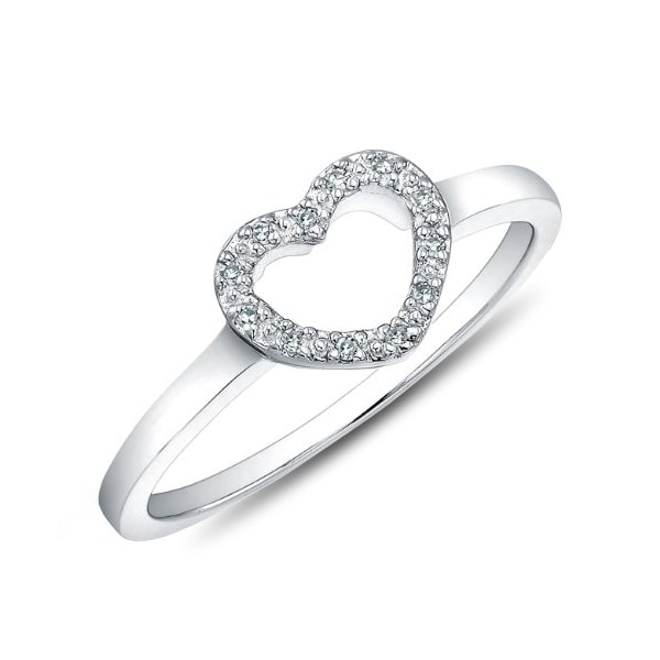 SILVER RING WITH WITH DIAMONDS - DIAMOND RINGS - RINGS