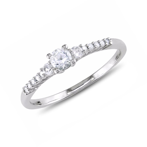Sterling silver ring with diamonds - Diamond rings