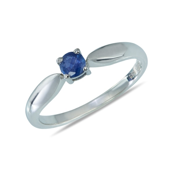Sterling silver ring with sapphire - Sapphire Rings