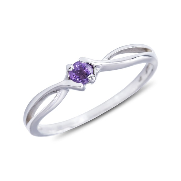 Amethyst ring in sterling silver - Amethyst Rings