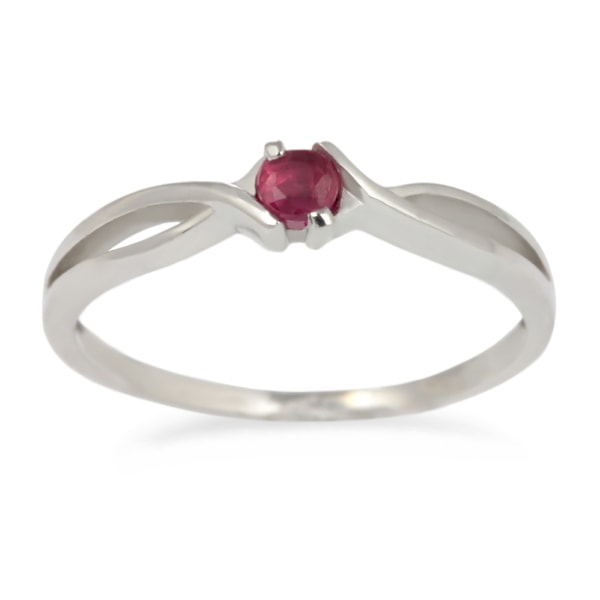 Gold ring with a ruby - White gold rings