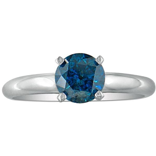 Klenota verlobungsring mit blauen diamanten in wei gold - Verlobungsring blau ...
