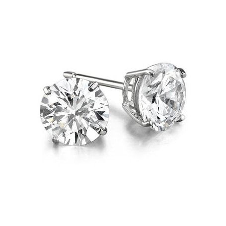 Luxury diamond earrings, 0.75ct - Stud earrings