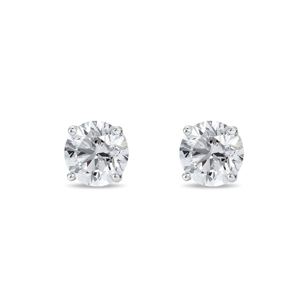 Diamond earrings 0.33kt in 14kt gold - Stud Earrings