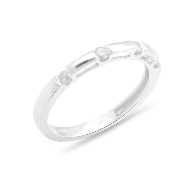 STERLING SILVER RING WITH DIAMONDS - STERLING SILVER RINGS - RINGS