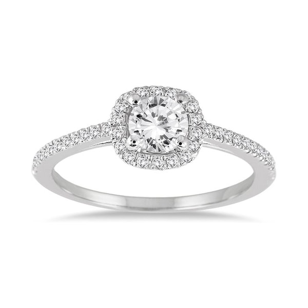 Diamond Engagement Ring - White gold rings