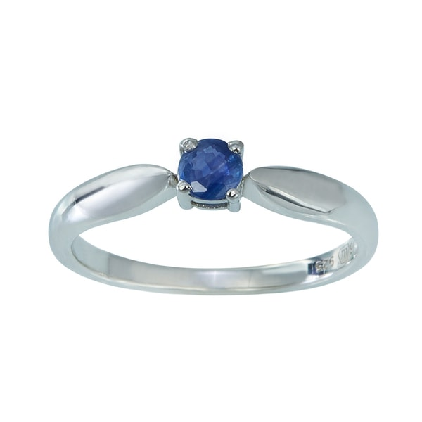 STERLING SILVER RING WITH SAPPHIRE - SAPPHIRE RINGS - RINGS