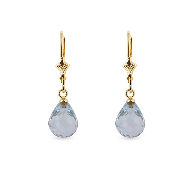 Earrings with green amethyst