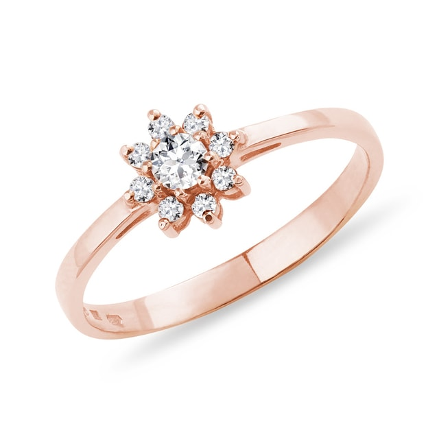 FLOWER-SHAPED DIAMOND RING - DIAMOND RINGS - RINGS