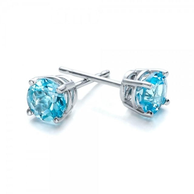 TOPAZ EARRINGS IN STERLING SILVER - TOPAZ EARRINGS - EARRINGS