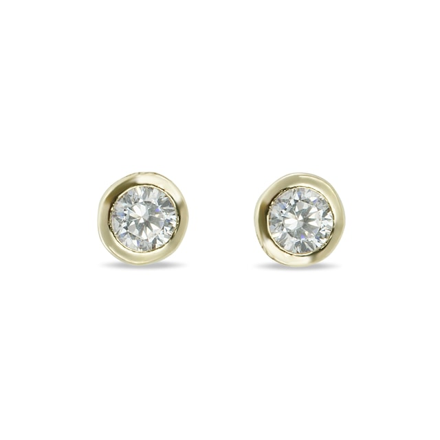 DIAMOND STUD EARRINGS IN 14KT GOLD - DIAMOND EARRINGS - EARRINGS