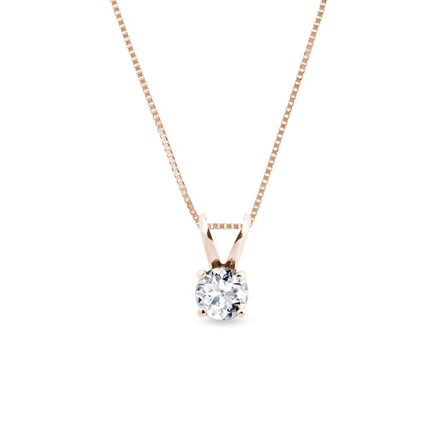 Diamond necklace in rose gold