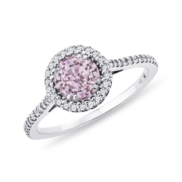 GOLD RING WITH PINK SAPPHIRE - SAPPHIRE RINGS - RINGS