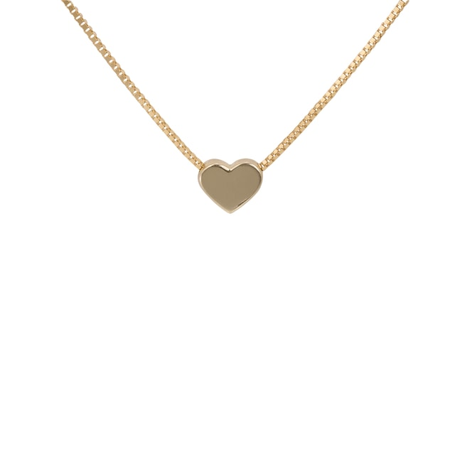 HEART NECKLACE IN 14KT YELLOW GOLD - HEART PENDANTS - PENDANTS