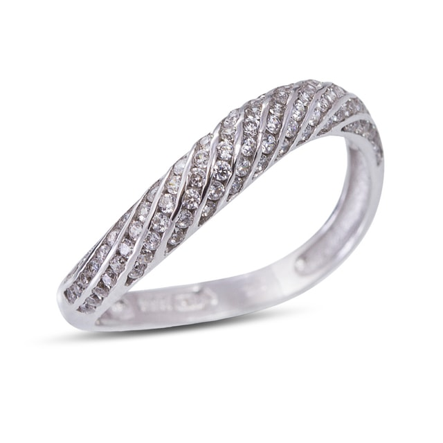 CZ RING IN 14KT WHITE GOLD - WHITE GOLD RINGS - RINGS