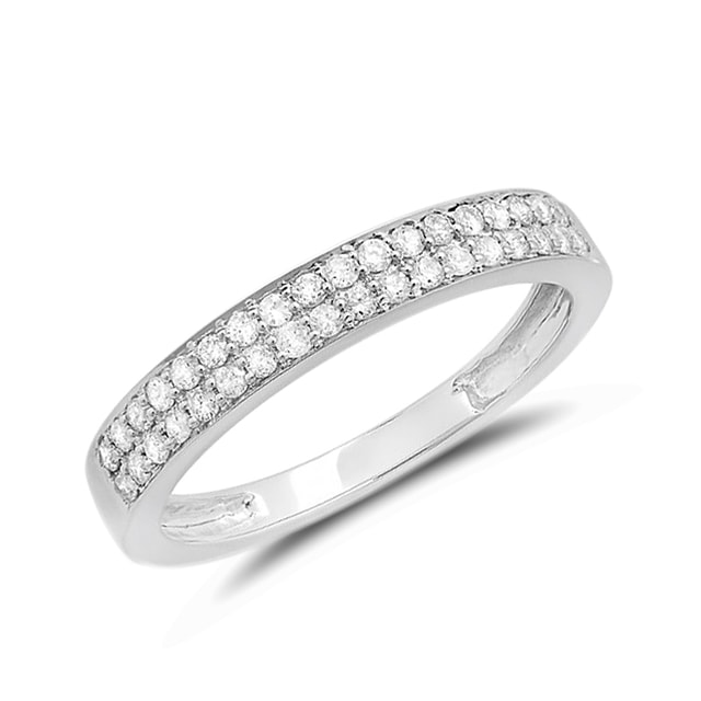 DIAMOND 14KT GOLD RING - WHITE GOLD RINGS - RINGS