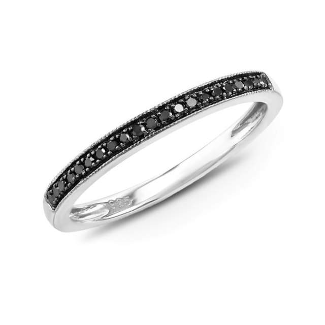 DIAMOND ANNIVERSARY RING - STERLING SILVER RINGS - RINGS