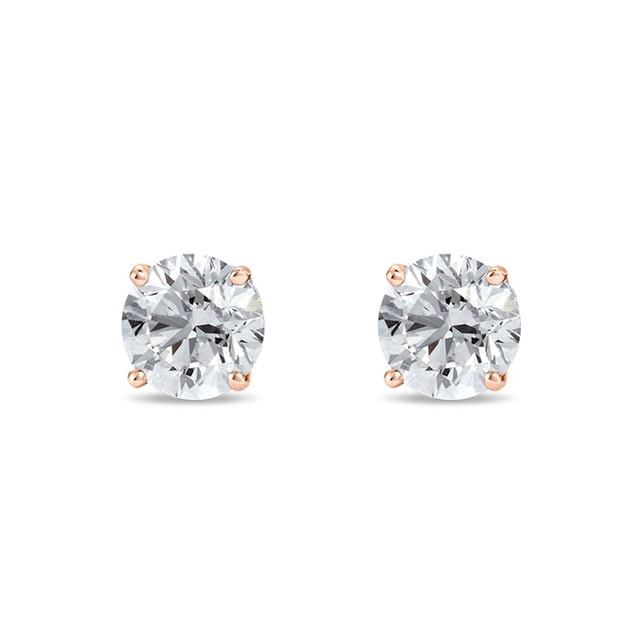 DIAMOND STUD EARRINGS IN ROSE GOLD - STUD EARRINGS - EARRINGS