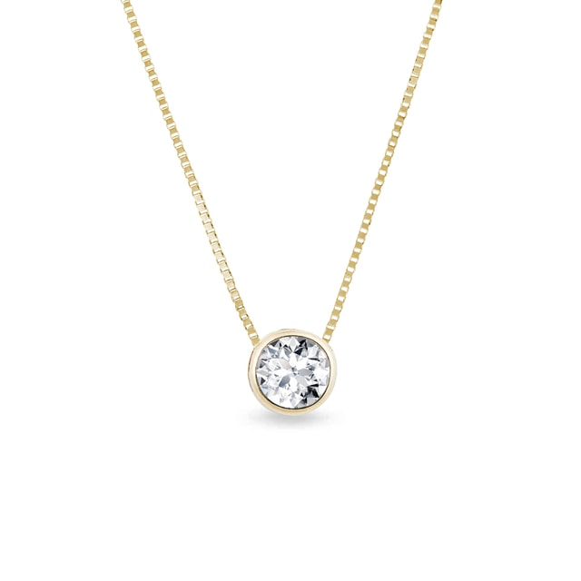 DIAMOND 14KT GOLD PENDANT - DIAMOND PENDANTS - PENDANTS