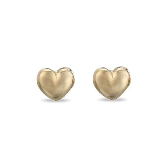 BABY DISNEY HEART EARRINGS IN 14KT GOLD - YELLOW GOLD EARRINGS - EARRINGS