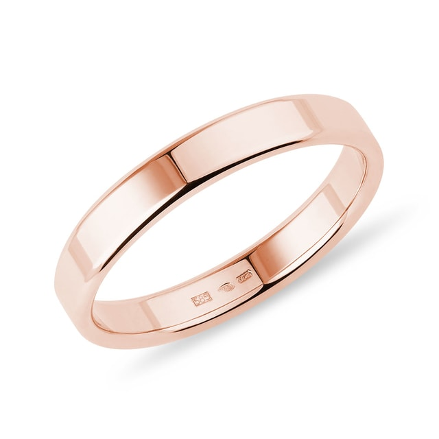 Men's ring in rose gold